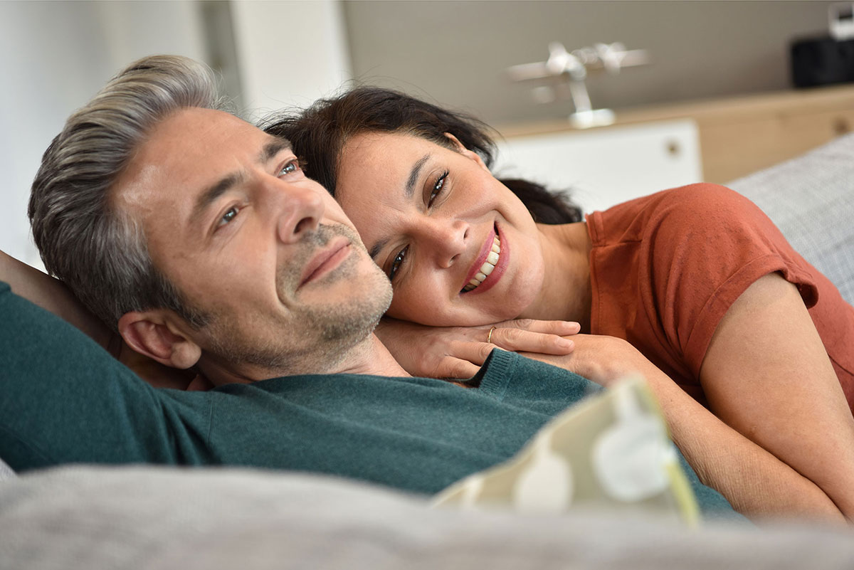 Bioidentical Hormone Replacement Therapy Cost Middle Aged Couple Lying Together