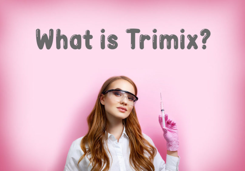 What is Trimix Girl Holding a Syringe